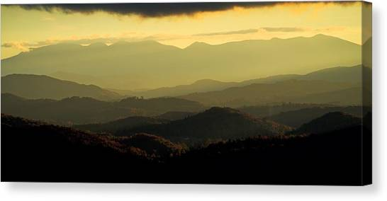 Moses Cone Canvas Print - Sunset From Beacon Heights by Matt Plyler
