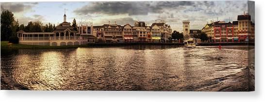 Prince Canvas Print - Sunset On The Boardwalk Walt Disney World Mp by Thomas Woolworth