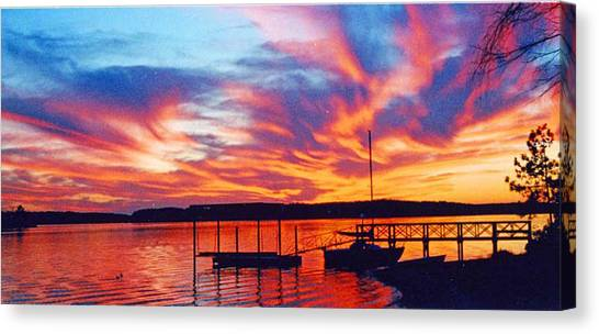 Sunset Over Lake Murray Canvas Print