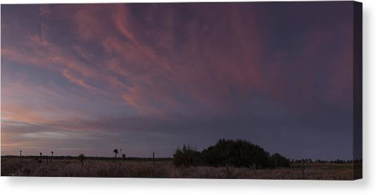 Sunset Over The Wetlands Canvas Print