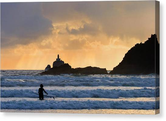 Surf Canvas Print - Surfs Up by Mike  Dawson