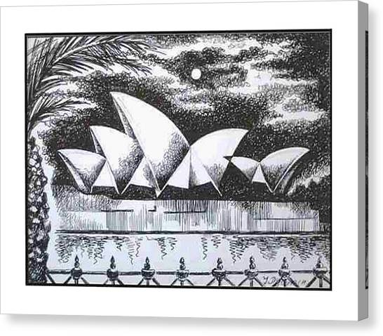 Sydney Opera House I Canvas Print by Yelena Revis