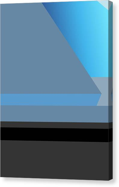 Symphony In Blue - Movement 1 - 2 Canvas Print
