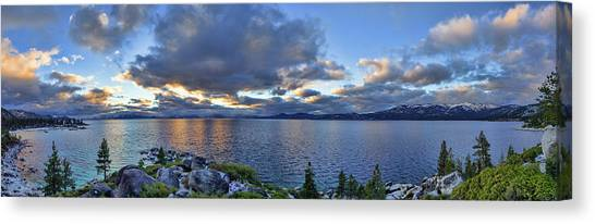 Tahoe Sunset Panorama Canvas Print