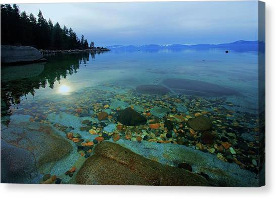 Canvas Print featuring the photograph Tahoe Twilight by Sean Sarsfield