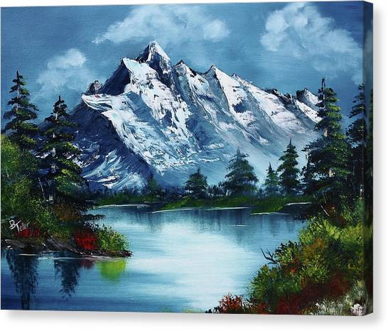 Bob Ross Canvas Print - Take A Breath by Barbara Teller