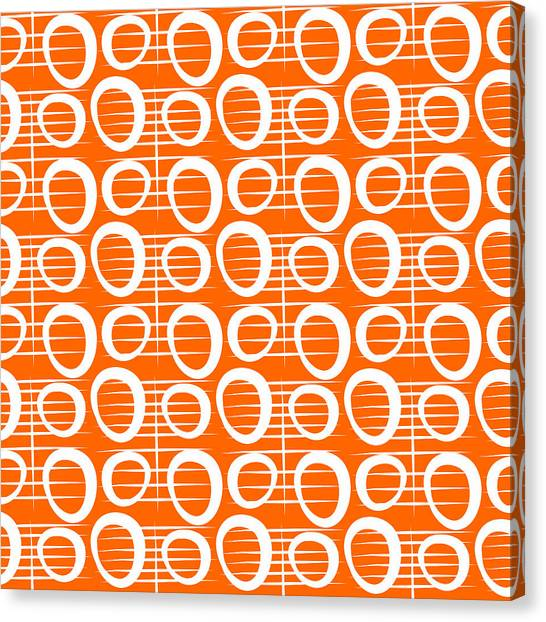 Pattern Canvas Print - Tangerine Loop by Linda Woods