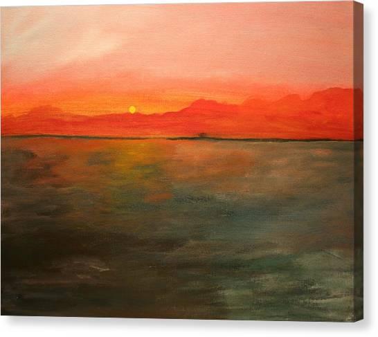 Tangerine Sky Canvas Print by Julie Lueders
