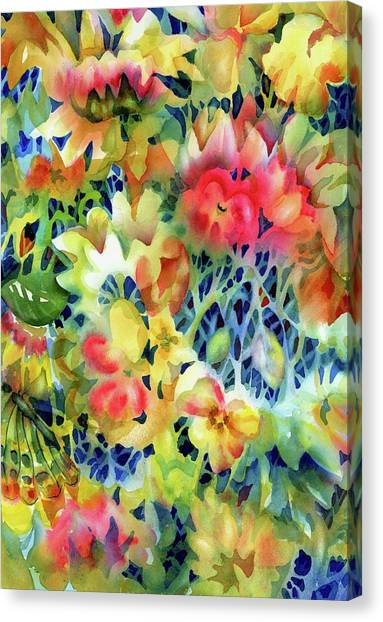 Tangled Blooms Canvas Print