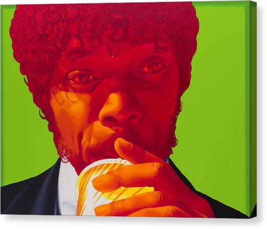 Pulp Fiction Canvas Print - Tasty Beverage by Ellen Patton