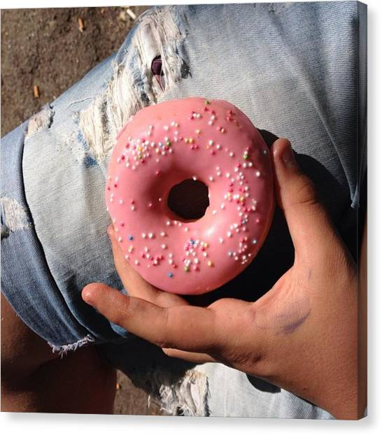 Fast Food Canvas Print - #tastysdonuts #donuts #yummy #tasty by Isak Gashi