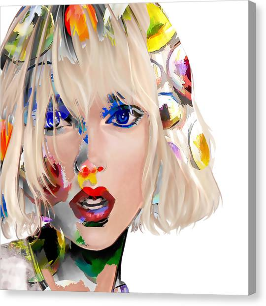 Taylor Swift Canvas Print - Taylor Swift by Love Art