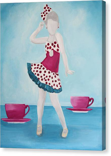 Tap Dance Canvas Print - Tea For Two by Kim Chambers