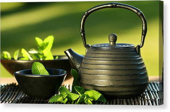 Tea Pot Canvas Print - Tea by Jackie Russo