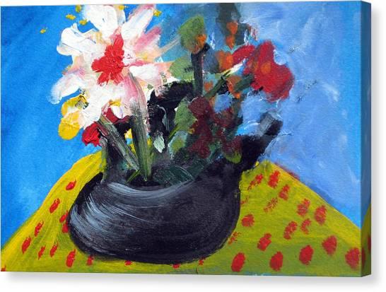 Tea Series B Canvas Print by Rebecca Merola