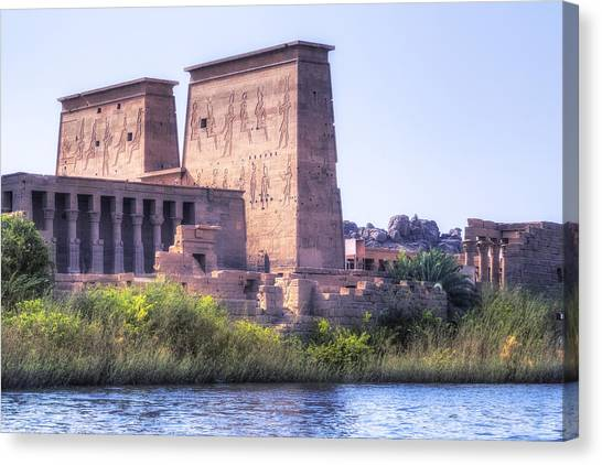 Flu Canvas Print - Temple Of Philae - Egypt by Joana Kruse