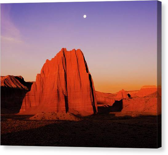 Canvas Print featuring the photograph Temple Of The Sun by Norman Hall