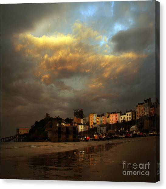 Tenby Canvas Print by Angel Ciesniarska