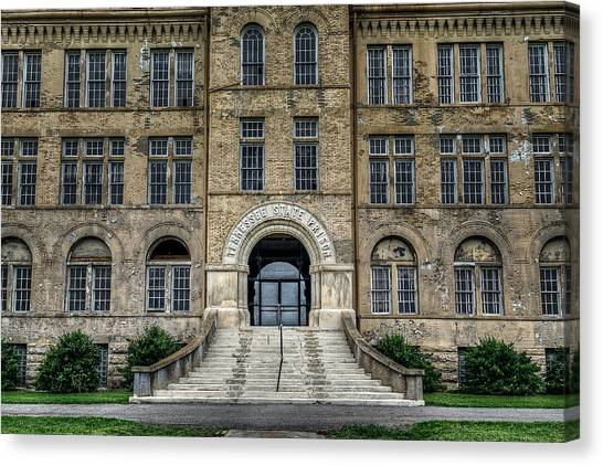 Detention Canvas Print - Tennessee State Penitentiary by Brett Engle