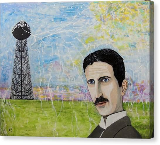 Tesla's Tower. Canvas Print
