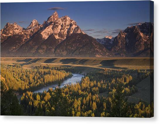 Teton National Forest Canvas Print - Teton Morning by Andrew Soundarajan