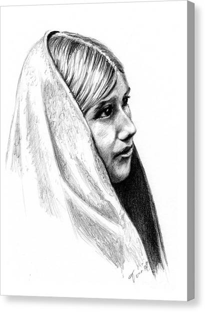 Tewa Girl Canvas Print