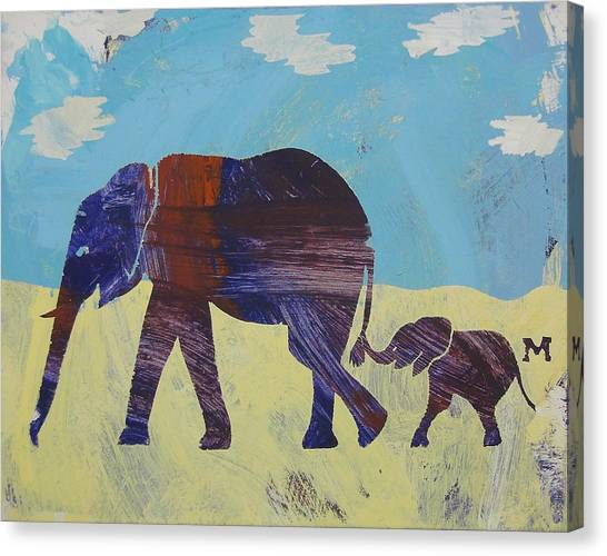 Canvas Print featuring the painting Thanks Mom by Candace Shrope