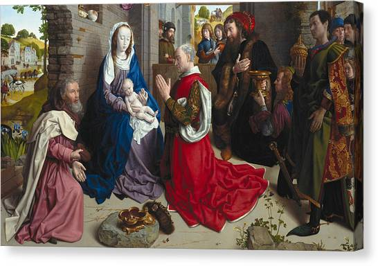 Early Christian Art Canvas Print - The Adoration Of The Kings by Hugo van der Goes