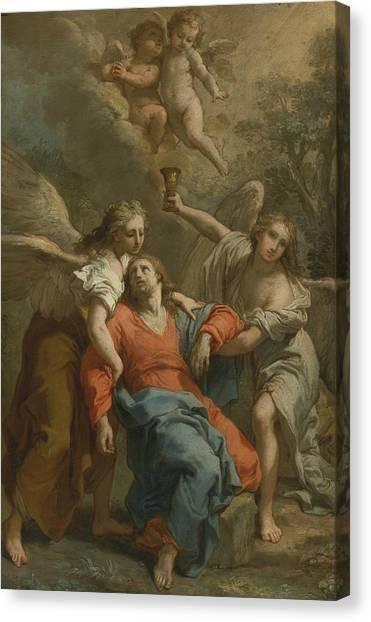 Neoclassical Art Canvas Print - The Agony Of Christ by Gaetano Gandolfi