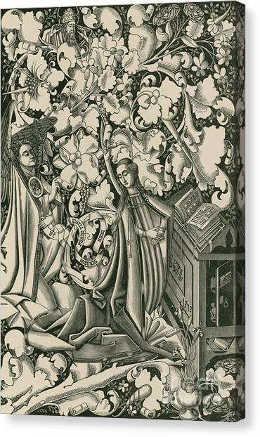 The Annunciation Canvas Print - The Annunciation by German School