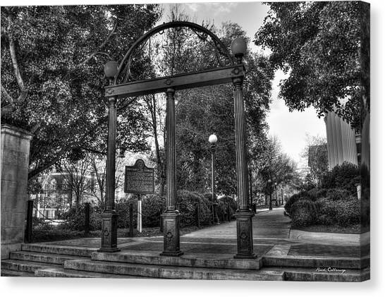 University Of Georgia Canvas Print - The Arch 6 University Of Georgia Arch Art by Reid Callaway