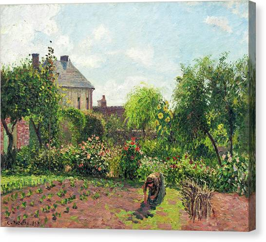 The Artist's Garden At Eragny Canvas Print