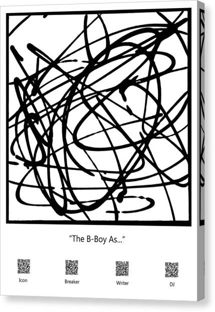 The B-boy As... Canvas Print