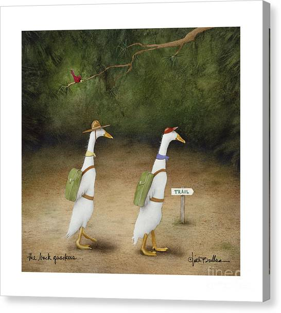 The Back Quackers Canvas Print