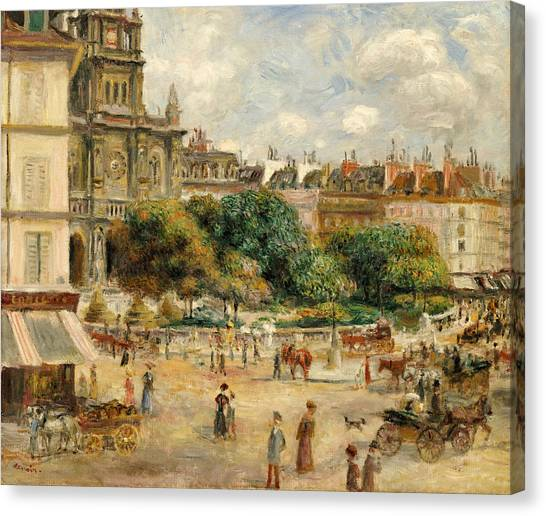 Pierre-auguste Renoir Canvas Print - Place De La Trinite, 1893 by Pierre Auguste Renoir