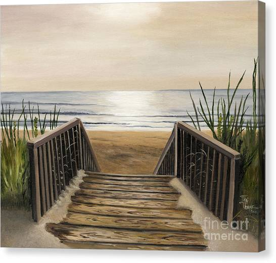 Scape Canvas Print - The Beach by Toni  Thorne