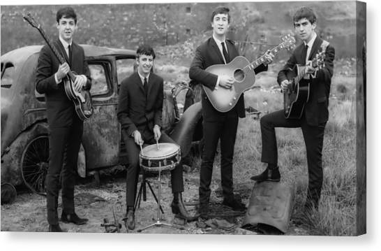 Banjos Canvas Print - The Beatles by Mariel Mcmeeking