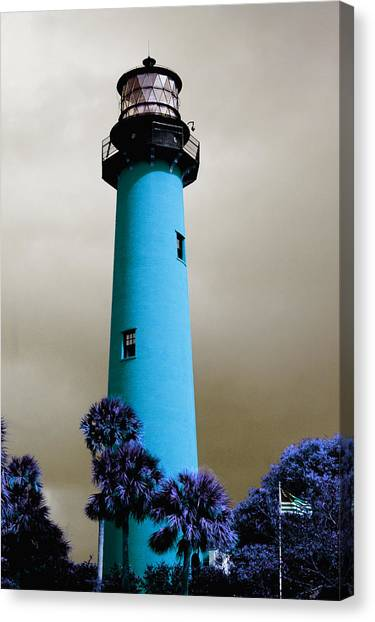 The Blue Lighthouse Canvas Print