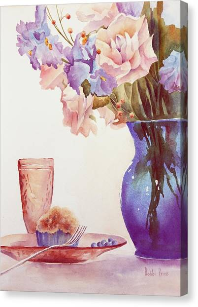 The Blue Vase Canvas Print by Bobbi Price