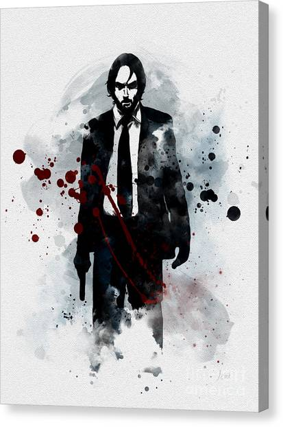 Keanu Reeves Canvas Print - The Boogeyman by Rebecca Jenkins