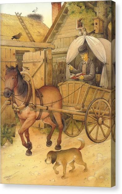 The Bookman Canvas Print by Kestutis Kasparavicius