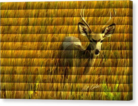 The Buck Poses Here Canvas Print