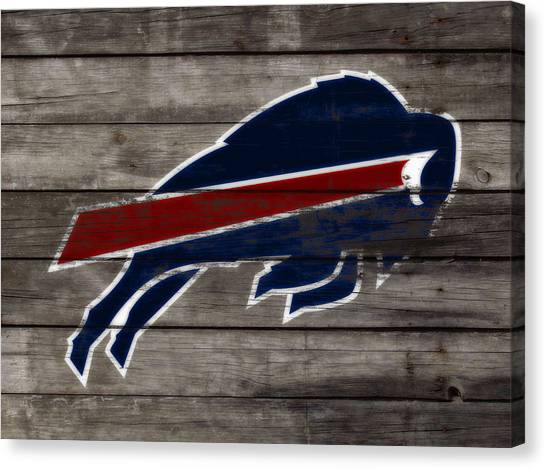 Barry Sanders Canvas Print - The Buffalo Bills W1 by Brian Reaves