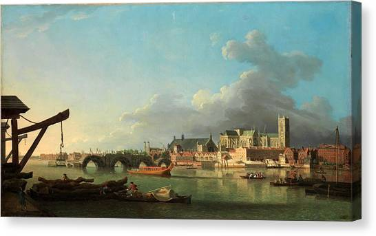 The Metropolitan Museum Of Art Canvas Print - The Building Of Westminster Bridge by MotionAge Designs