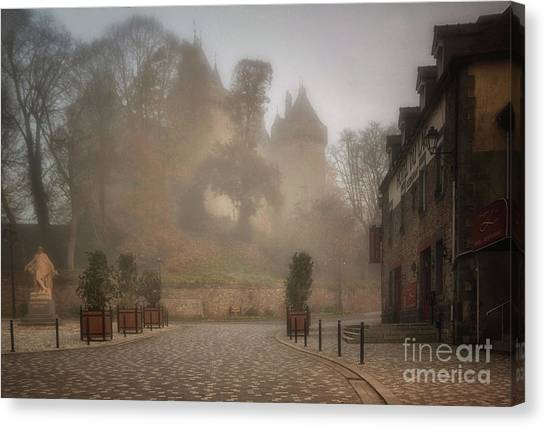 The Castle In The Myst Canvas Print