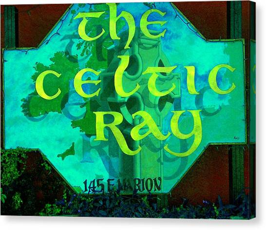 the Celtic Ray Canvas Print by Charles Peck