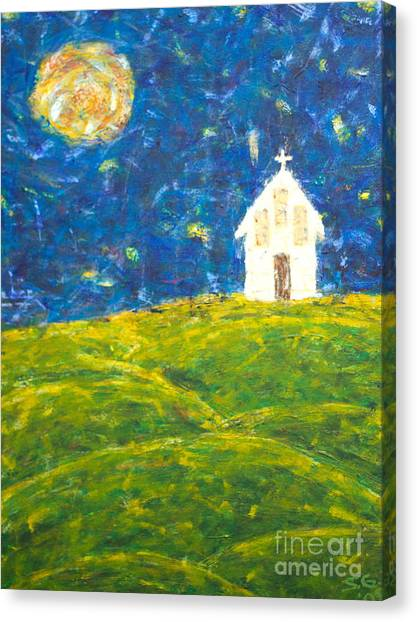 The Church At Newberg Canvas Print