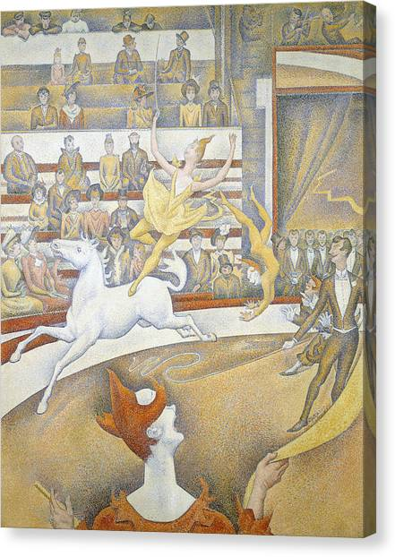 Pointillism Canvas Print - The Circus by Georges-Pierre Seurat