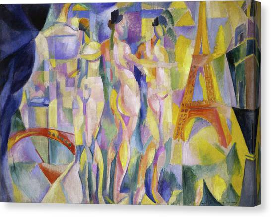 Lyrical Abstraction Canvas Print - The City Of Paris by Robert Delaunay