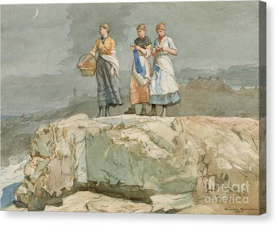 Winslow Canvas Print - The Cliffs by Winslow Homer